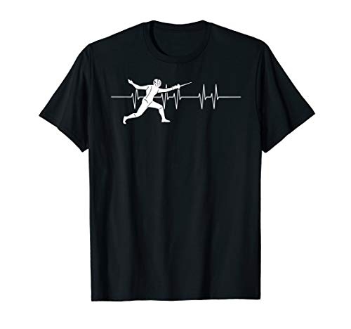 Fechter Geschenkidee Herzlinie Fechter Sport Fechten T-Shirt
