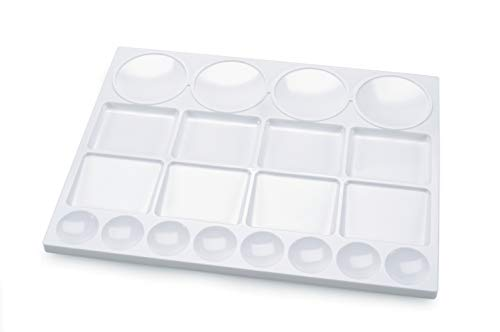 "Darice, Skil Art 20 Wells, 13"" x 10"" – Plastic Palette for Oil, Watercolors & Acrylic Paints, Ideal for Mixing and Separating Colors, For all Skills Levels (97789)"
