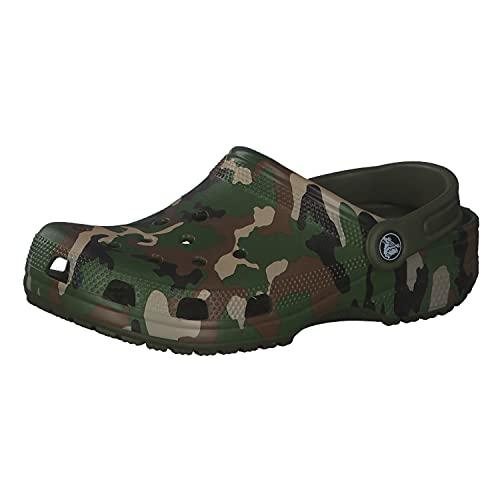 Crocs Kinder Schuhe Classic Printed Clog 205813 Army Green/Multi 38-39