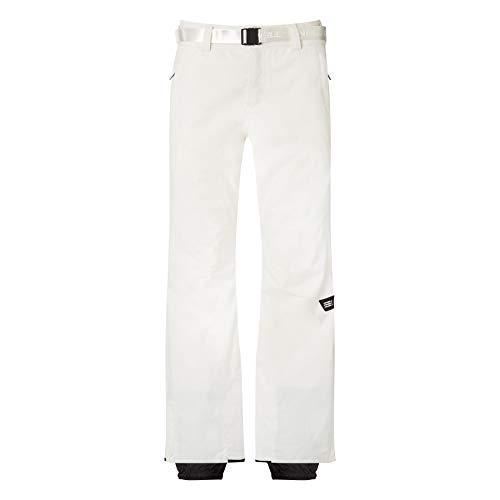 O'NEILL Star Slim Pantalones para Nieve, Mujer, Blanco en Polvo, L