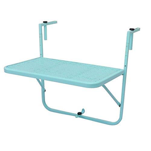 Wangczdz klaptafel van smeedijzer, balkon, tafel om op te hangen, inklapbaar frame, bloemenstandaard, geschikt voor avondeten, familietafel