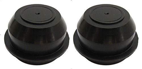 Troon&Co – 52 mm Schwarze Anhänger-Radnabe, Staubfettlagerkappen, 2 Stück