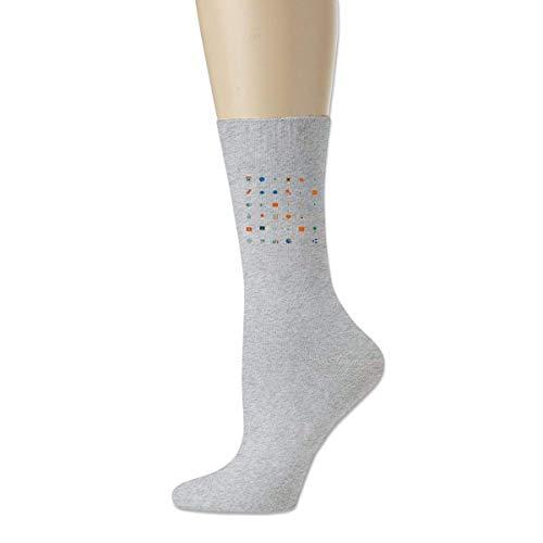 wonzhrui Calcetines casuales de algodón adulto con icono pequeño gris Calcetines tobilleros al aire libre
