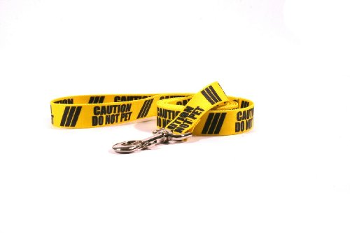 Yellow Dog Design Caution Do Not Pet Dog Leash with Standard Loop Handle, 1 Wide