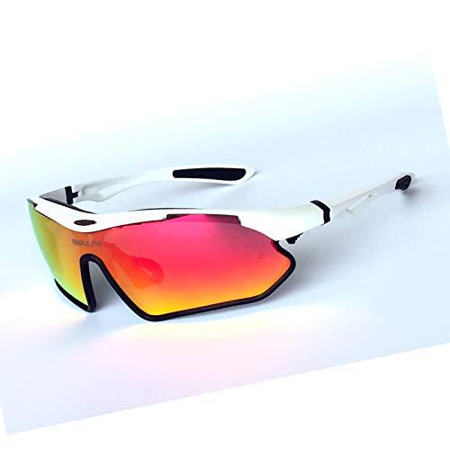 ZPL TR90 Gafas De Sol Gafas Sol Polarizadas Anti-UV Almacenamiento Caja Reov Lentes Ajustable Nariz Almohadillas Apropiado por Exterior Ciclismo,Upper White and Lower Black