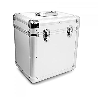 "Oypla 100 x 12"" LP Vinyl Record Box Hard DJ Flight Case Aluminium"
