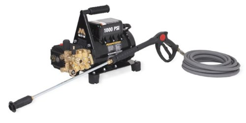 Mi-T-M CD-1002-3MUH CD Series Cold Water Electric Direct Drive, 1.5 HP Motor, 120V, 12.5A, 1000 PSI Pressure Washer