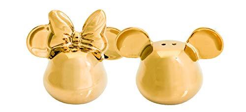 Joy Toy 62151 MICKEY MOUSE DELUXE 3D GOLDIGER SALZ- UND PFEFFERSTREUER, gold