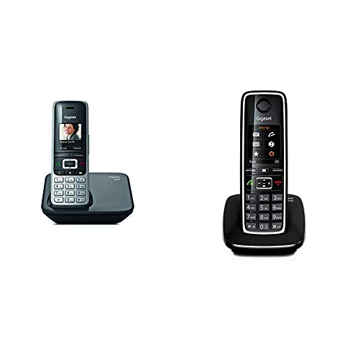 Gigaset S850; teléfono inalámbrico con Manos Libres; conexión Bluetooth; Pantalla en Color; Agenda de 500 contactos; conexión Auriculares; + C530. Teléfono inalámbrico con Manos Libres y Pantalla
