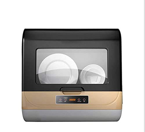 Lavavajillas Lavavajillas Compacto De Encimera Secador De Lavaplatos Inteligente Doble para Oficina De Apartamento Y Cocina Doméstica, Panel Táctil De Lujo, Fácil De Limpiar Tdf