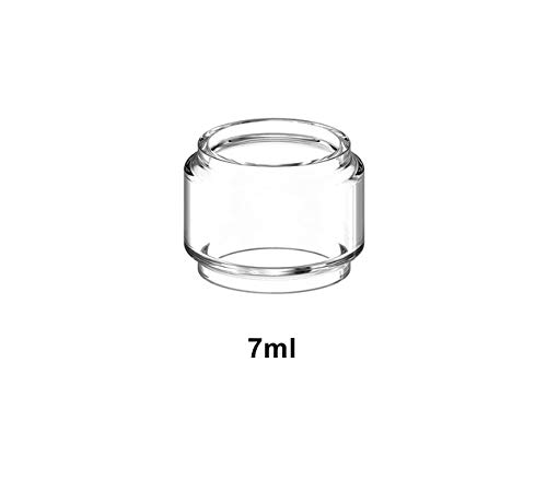 Without brand 03.04/2 / 1pcs Packung Hongxingjia Original-Pyrex Blase Glasrohr-Behälter gepasst for UD Bellus RTA Atomizer Tankinhalt (Farbe : 1pc 7ml Glass)