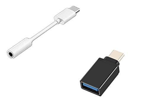 YOUBO Tipo-c a 3.5mm Auricular Cable Adaptador USB 3.1 Tipo C USB-C Macho a 3.5 Hembra Audio AUX Jack +OTG Trenzado USB 3.1 Tipo C Macho a USB 3.0 Tipo a Hembra Cable