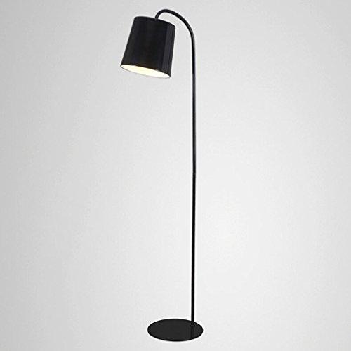 $golvlampa i järnsäng, modern sovrumslampa för sovrummet studio kreativ personlighetslampa (färg: Svart)