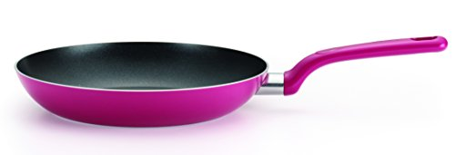 T-fal C72907 Excite Nonstick Thermo-Spot Dishwasher Safe Oven Safe PFOA Free Fry Pan Cookware, 12-Inch, Pink