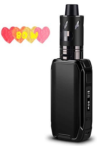 E Zigarette Starter Set, FREDEST E Zigarette Shisha Starter Set 80W Box Mod mit 2500mAh Eingebaute Batterie 0.5 Ohm/ 2.0ml Verdampfer Akku Starterset Dampfer set, Ohne Liquid, Ohne Nikotin