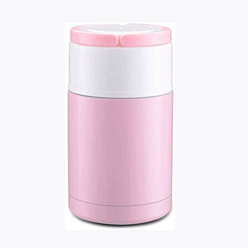 YUTRD ZCJUX Aislamiento Fiambrera, Portable al Aire Libre de Acero Rosa Gachas Pot Aislamiento Fiambrera la Taza aislada