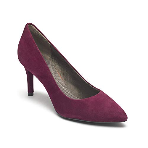 Rockport Damen Total Motion 75mm Pointy Toe Plain Pump Pumps, Rot (Berry Kid Suede 006), 40 EU