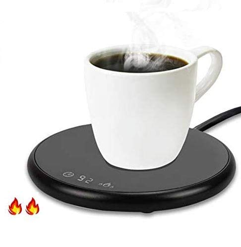 Coffee Mug Warmer Electric Smart Beverage Warmer with Timer & Temperature Control for Office/Home Suitable for Water,Cocoa,Milk & Coffee Electric Cup Beverage Plate - Black