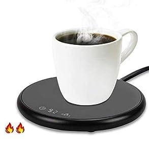 QLG&S Calentador de Café, Calentador de Bebidas Portátil, Calentador de Bebidas Eléctrico con,Calentador Inteligente para Café, Leche, té y Otras Bebidas para Uso Doméstico y de Oficina (Negro)