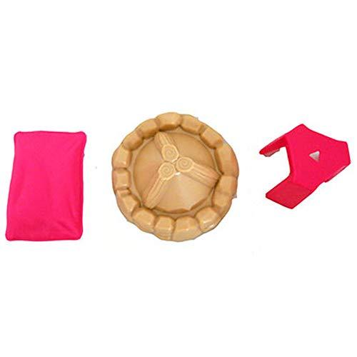 Barbie - Juego de piezas de repuesto para muñeca DreamCamper | FBR34 ~ Bolsa de piezas de repuesto – Contenido: almohada rosa, taburete rosa y hoguera
