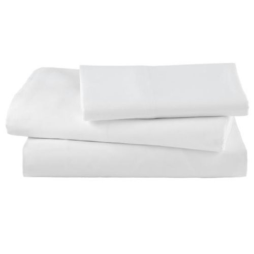 """EOM Linens White XL Twin Size Flat Sheets Size 66"""" X 115"""" T-130 Thread Count (24 Pack) Great for Home, Salons, Spas, Hotel, Institutional & Hospital use."""