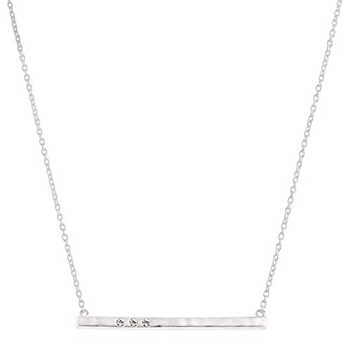 Silpada 'Dotted Line' Necklace with Swarovski Crystals in Sterling Silver, 18' + 2'