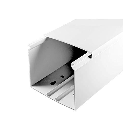SCOS Smartcosat SCOSKK183 1 m Kabelkanal (L x B x H 1000 x 80 x 60 mm, PVC, Kabelleiste, Schraubbar) weiß