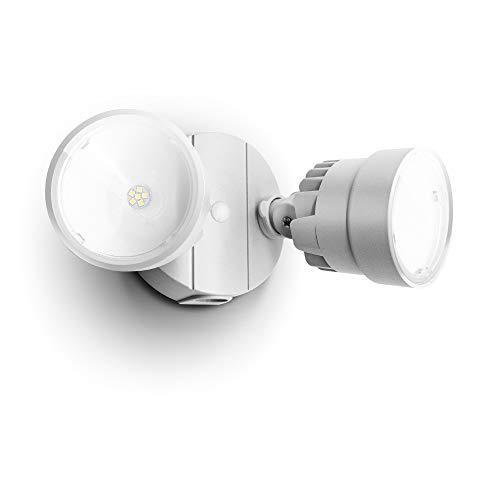 LUTEC P6221W 1130 Lumen 15 Watt 28 LED Dual-Head Flood Light Outdoor, Waterproof Exterior Security Wall Light for Patio, Garden,Yard-White