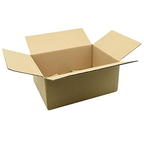 Faltkartons Versandkartons Faltschachtel Pappkarton Kartonage Karton Faltkiste Versandschachtel (6 Stück, braun, 200x150x90mm)
