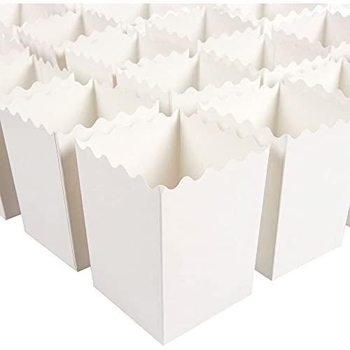 Blue Panda un insieme di 100 popcorn scatole di favore - 16 once mini carta popcorn contenitori, accessori per la casa popcorn partito per le notti film, carnevale feste