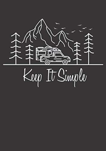 Notizbuch A5 kariert mit Softcover Design: Pick-Up Camper Van Camping Life Camper Geschenk Wandern: 120 karierte DIN A5 Seiten