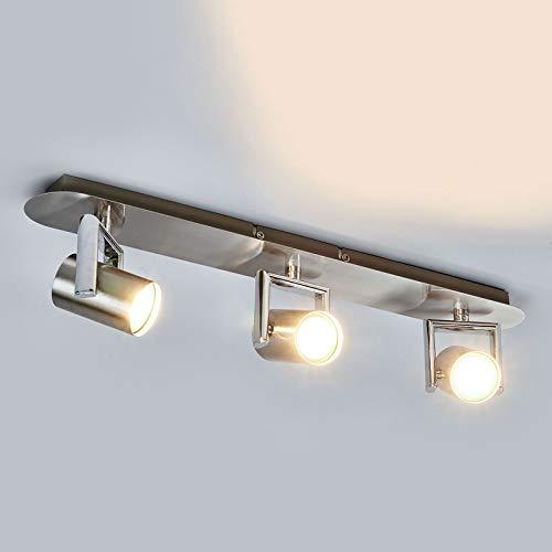 Lindby LED Deckenlampe 'Luciana' (Modern) in Alu aus Metall u.a. für Flur & Treppenhaus (3 flammig, GU10, A+, inkl. Leuchtmittel) - Deckenleuchte, Wandleuchte, Strahler, Spot, Lampe, Flurleuchte