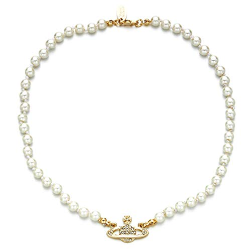 Classico diamante pieno semplice brillante nuova personalità cristallo freddo collana catena Saturno collana femminile-collana di perle in oro