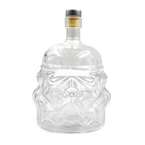 Qingchul Transparente kreative Whiskyflasche Karaffe Dekanter Stormtrooper Glasflasche Wein Dekanter Glasbecher