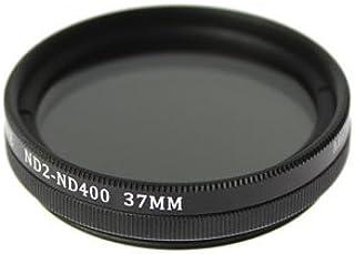 Panasonic LUMIX DMC-GX7MK2K標準ズームレンズキット(LUMIX G VARIO 12-32mm / F3.5-5.6 ASPH. / MEGA O.I.S.)用 互換可変ND(ND2~ND400) フィルター 37mm