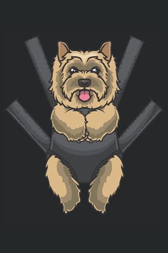 Cairn Terrier Hund in einer Tragetasche: Notizbuch LINIERT | Eine lustige Kladde für Hundeliebhaber und Hundebesitzer