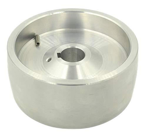 (Drive 130-24) Riemenschleifer-Antriebsrad CNC-bearbeitetes Riemenschleifer-Antriebsrad für Messerschleifer 130 mm Durchmesser - 55 mm breit mit 24 mm Bohrung