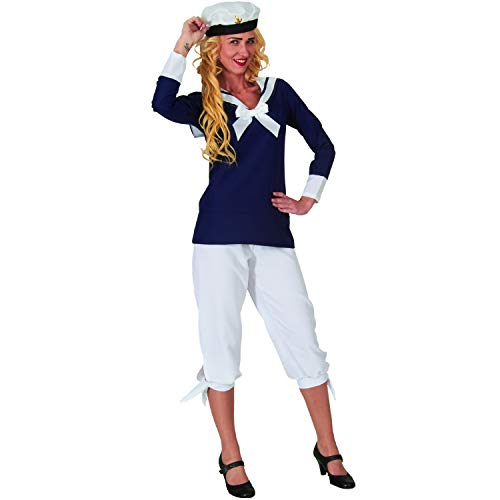 Damen Kostüm Sailor Heike Matrosin Seefahrerin Fasching Karneval (S)