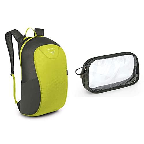 Osprey Europe Ultralight Stuff Pack Electric Lime Osprey Washbag Carry on Shadow Grey