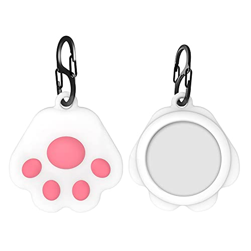 Compatible with Anti-Lost Apple Airtags Location Trackers Hanging Buckle Protective Cover, Silicone Case Cover Protective Case Soft Rubber Cases Skin Compatible (D-4)