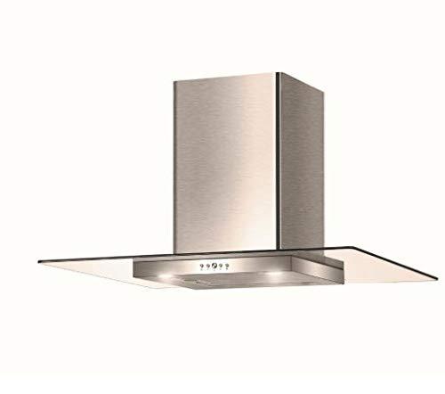 Faber TGL X A90 2LS - Cappa Cucina Aspirante da 90 cm, Tipologia Parete, Inox