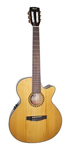 Cort CEC-5 - Guitarra electroacústica (calibre de cuerdas: 28-43), color beige brillante