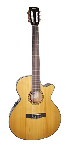 Cort CEC-5 Guitare Folk électro cordes Nylon Naturel brillant