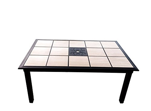 Traditions Unity Tile Outdoor Furniture Patio Dining Table