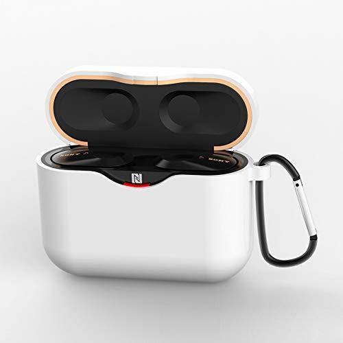 BEESCLOVER Capa de silicone de espessura 1,5 mm para fone de ouvido capa protetora de fone de ouvido para So-ny WF-1000XM3 branco estilo de vida criativo