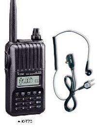 アイコム IC−T70(ICT70)&DP11M(株)電化パーツ オリジナルイヤホンマイク セット 144/430MHz アマチュア無線機 ハンディ
