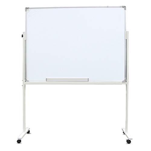 Tableau Blanc Le Chevalet De Support De Plaque De Présentation d'un Tableau Blanc Magnétique Mobile Portable Aides De Bureau Réglable (Color : White, Size : 80x120cm)