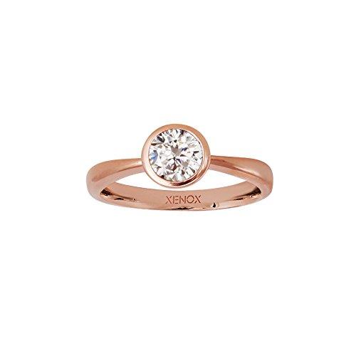 Xenox Damen Ring Solitaire Rosé