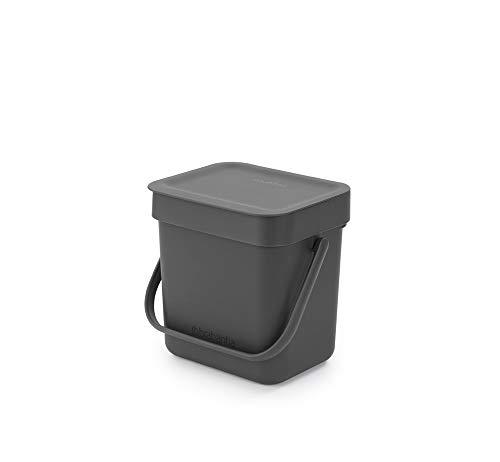 Brabantia Lebensmittelabfallbehälter, grau, klein