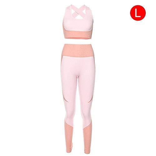 Neckip Damen Yoga Set, Nahtloser Rückenfreier, Weicher, Elastischer Sportswear Yoga Anzug Für Fitness-Enthusiasten